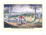 Mr. Muster's Hunted by His Hounds Print by Henry Thomas Alken