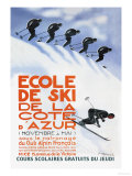 Ecole de Ski Prints by Simon Garnier