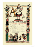 A for Alice in Wonderland Posters van Tony Sarge