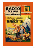 Radio News and Short Wave Radio: Start Your Vacation with a Transceptor Posters