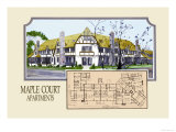 Maple Court Apartments Print by Geo E. Miller