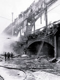 Fire on Bridge, Philadelphia, Pennsylvania Print