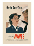 On the Same Team: Enlist in the Waves Posters