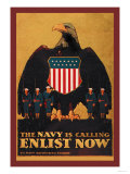 The Navy is Calling: Enlist Now Prints by  Britton