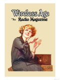 Wireless Age: The Radio Magazine Poster by D. Gross
