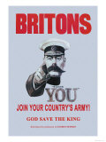Britons: Join Your Country's Army Poster by Alfred Leete