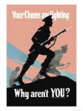 Your Chums Are Fighting, Why Aren't You Premium Giclee Print by P.e. Nobbs