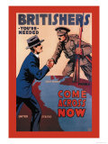 Britishers: You're Needed: Come Across Now Art by Lloyd Myers