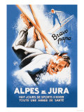 Alpes and Jura Affiches par Eric De Coulon