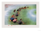 Spring Cultivation Posters by Li Feng-lin