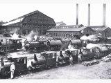 Trains near Factories, Philadelphia, Pennsylvania Prints