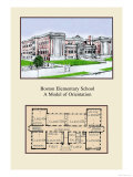 Boston Elementary School Prints by Geo E. Miller
