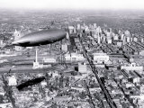 Zeppelin above Philadelphia Photo