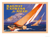 Railway Express for Speed Premium Giclee Print by Josef Fenneker