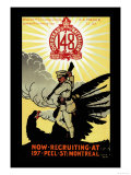 Canada Overseas Battalion: Now Recruiting at 197 Peel Street, Montreal Prints by O.m. House