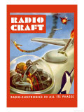 Radio-Craft: Fighter Plane Print by Alex Schomburg