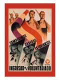 Campesinos, Oberos, Estudiantes: Ingresad En el Voluntariado Prints