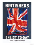 Britishers: Enlist To-Day Art by Guy Lipscombe