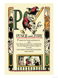 P for Punch and Judy Prints by Tony Sarge