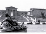 Statue in Front of Philadelphia Museum of Art Photo