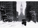 Snow at City Hall, Philadelphia, Pennsylvania Affiches
