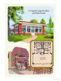 Tourist Camp Pavilion and Rest Home Prints by Geo E. Miller