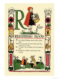 R for Red Riding Hood Posters by Tony Sarge
