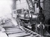 Three Men Standing on Train, Philadelphia, Pennsylvania Posters