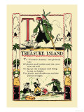 T for Treasure Island Premium Giclee Print by Tony Sarge