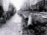 Laying Pipeline, Philadelphia, Pennsylvania Posters