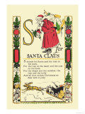 S for Santa Claus Poster by Tony Sarge