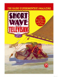 Short Wave and Television: Radio Controlled Ice Sailing Print