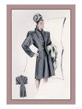 Charcoal Dressy Coat Print