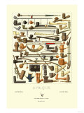 Afrique: Various Pipes Posters