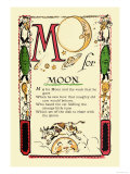 M for Moon Premium Giclee Print by Tony Sarge