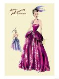 Magenta Evening Gown Poster