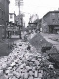 Street Construction, Philadelphia, Pennsylvania Posters