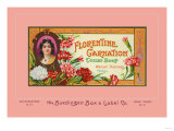 Florentine Carnation Toilet Soap Posters