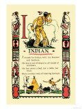 I for Indian Poster by Tony Sarge