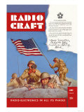 Radio Craft: American Soldiers Stake the Flag Poster