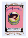Portrait Reproductions on Tins by American Stopper Co. Photo