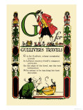G for Gulliver&#39;s Travels Prints by Tony Sarge