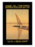 Le Nil au Soleil Levant Prints by D. Rudeman