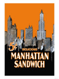 Manhattan Sandwich Poster