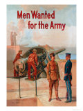 Men Wanted for the Army Print by Michael P. Whalen
