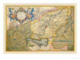 Map of Northeastern Italy, Verona Prints by Abraham Ortelius