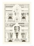 Pediments of the Renaissance Premium Giclee Print by J. Buhlmann