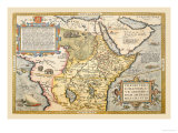 Map of Northeastern Africa Prints by Abraham Ortelius