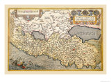 Map of Northern Italy Prints by Abraham Ortelius