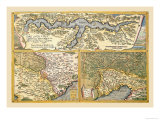 Maps of Rome Print by Abraham Ortelius